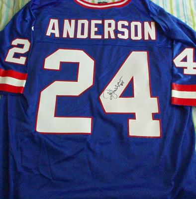 Ottis O.J. Anderson autographed New York Giants authentic game model jersey