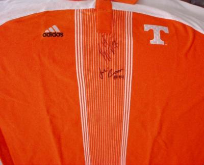Rashad Moore & Julian Battle autographed Tennessee Adidas golf or polo shirt