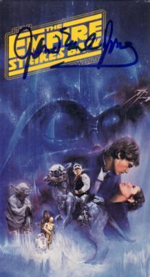 James Earl Jones autographed Star Wars Empire Strikes Back VHS video