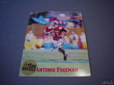 Antonio Freeman autographed Virginia Tech 8x10 photo