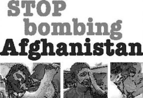 Postcard; Stop bombing Afghanistan postcards