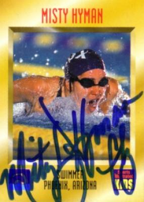 Misty Hyman (swimming) autographed 1997 Sports Illustrated for Kids card