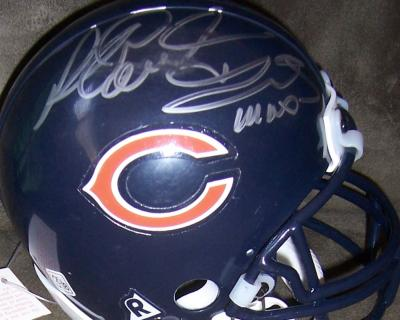 Richard Dent & Mike Singletary autographed Chicago Bears mini helmet