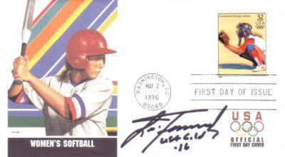 Lisa Fernandez autographed softball 1996 Olympics First Day Cover