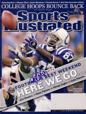 Reggie Wayne autographed Indianapolis Colts 2005 Sports Illustrated