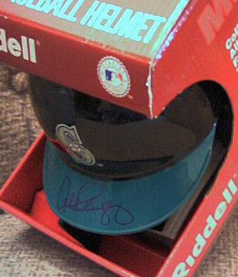 Alex Rodriguez autographed Seattle Mariners mini batting helmet