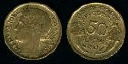 50 centimes; Year: 1931-1945; (km 894.1)