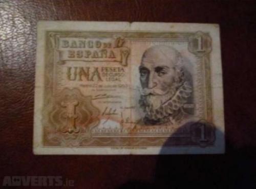 SPAIN - 1 pesetas-1953