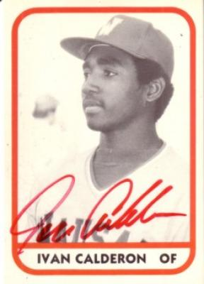 Ivan Calderon autographed 1981 TCMA Wausau Timbers card