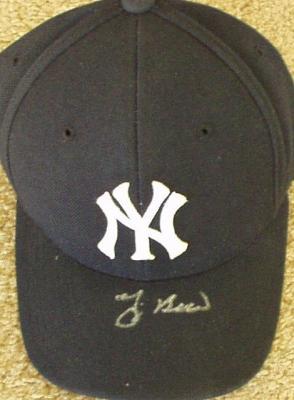 Yogi Berra autographed New York Yankees cap