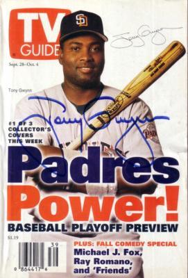 Tony Gwynn autographed San Diego Padres 1996 TV Guide