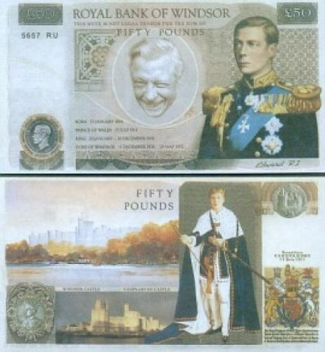Great Britain - 50 Pounds-fantasy Banknotes