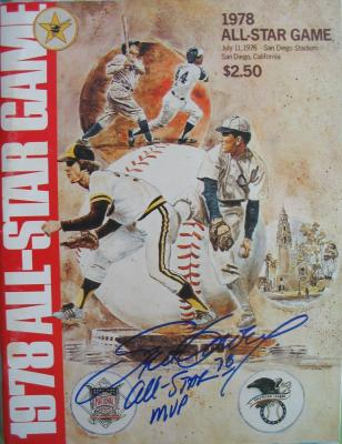 Steve Garvey (Dodgers) autographed 1978 All-Star Game inscribed All-Star MVP 78