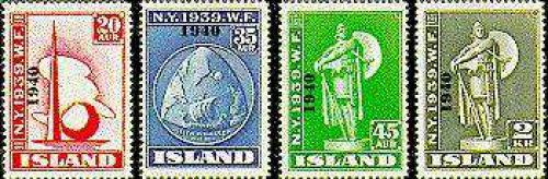 Local overprints 4v; Year: 1940