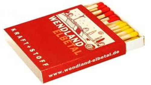Matchboxes; red yellow tips Coloured tip branded match boxes