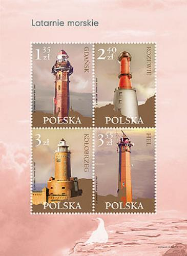 mint stamps of  Poland . Lighthouses