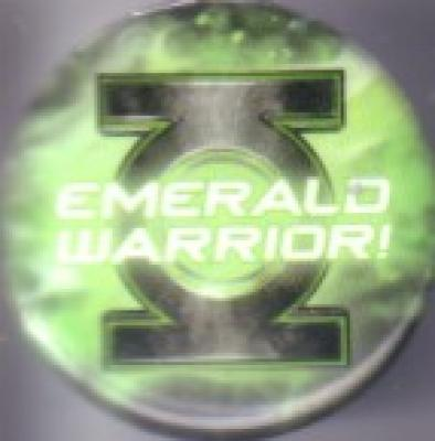 Green Lantern Emerald Warrior 2011 Comic-Con promo button or pin