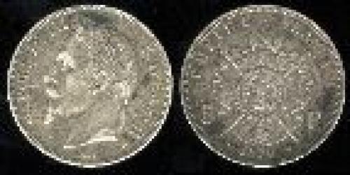 5 francs; Year: 1861-1870; (km 799)