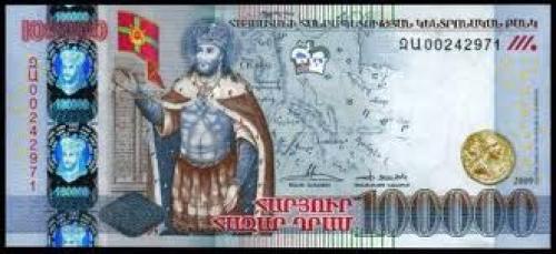 Banknotes; Armenia;‑New‑100,000 Dram