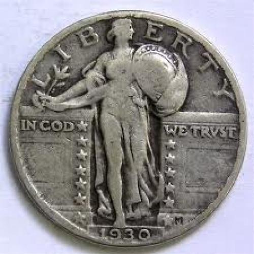 Coin; US COIN 1930 STANDING LIBERTY SILVER QUARTER