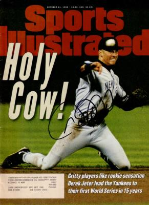 Derek Jeter autographed New York Yankees 1996 World Series Sports Illustrated