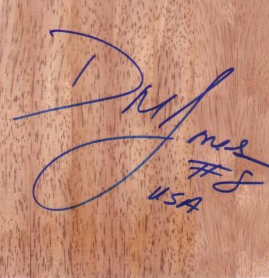DeLisha Milton-Jones autographed 6x6 basketball hardwood floor