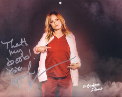 Malin Akerman autographed Children's Hospital calendar 8x10 photo