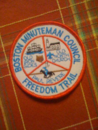 Boston Mass Minuteman Council Boy Scout patch