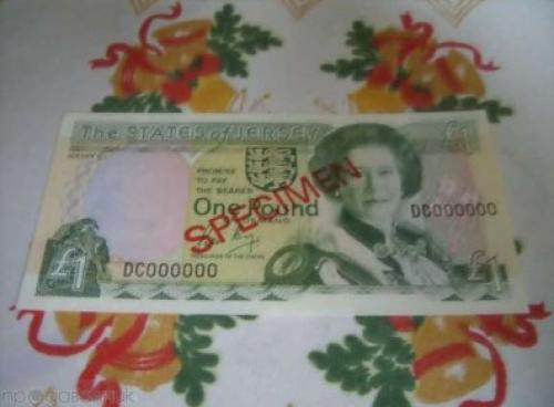 Jersey - British Dependent Territories-.1 £-specimen-DC000000-1989