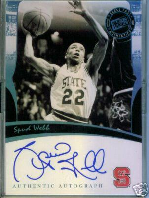 Spud Webb certified autograph North Carolina State Press Pass card