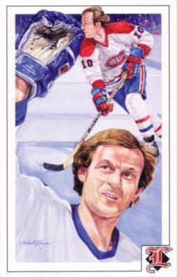 Guy Lafleur Canadiens 1992 Legends Magazine postcard