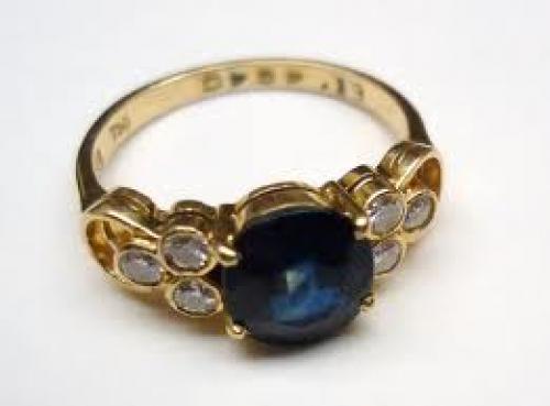 Jewelry; Topaz & Diamond Cluster Ring