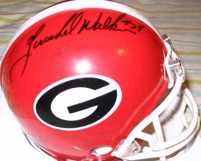 Herschel Walker autographed Georgia mini helmet
