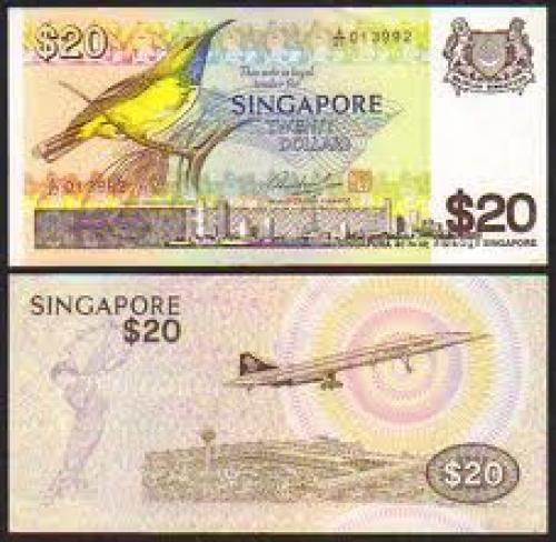 Banknotes; 1979 Singapore 20 Dollars Banknotes