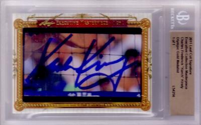 Karch Kiraly certified autograph 2011 Leaf Masterpiece Cut Signature card #1/1