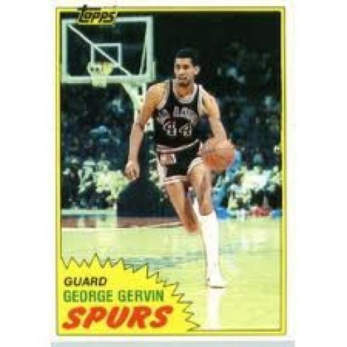Basketball Card; 1981/82 Topps Basketball Card # 37 George Gervin; Spurs