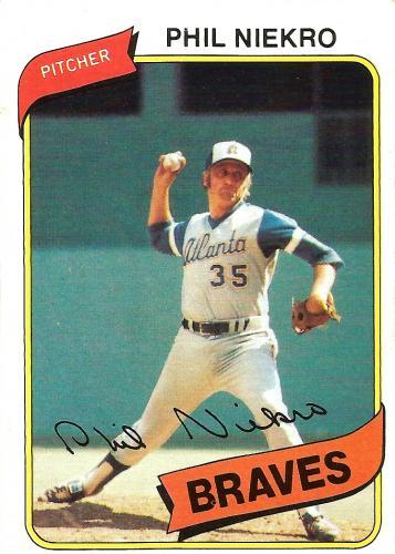 1980 Topps #245 ~ Phil Niekro * FREE SHIPPING *