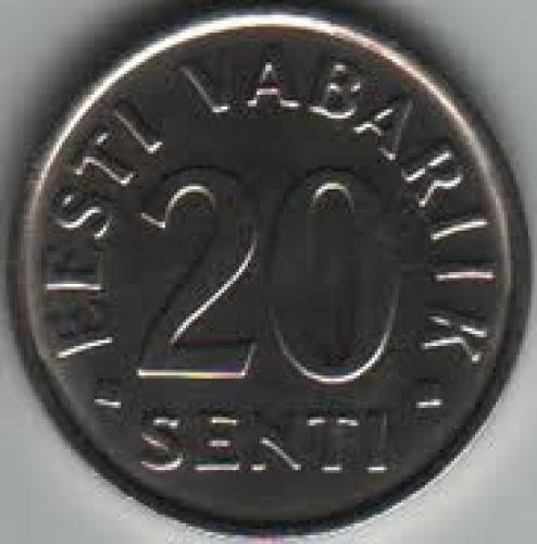 Coins; Estonia 20 Sent 2006