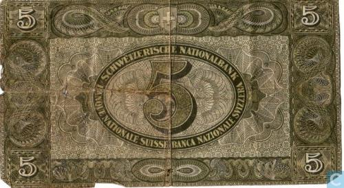 Switzerland 5 Francs Schweizerische Nationalbank 1949
