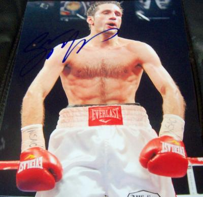 Sergio Mora autographed 8x10 boxing photo