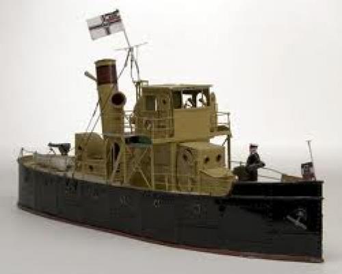 Old German Gun Boat Toy