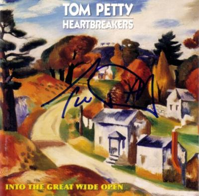 Tom Petty autographed Into the Great Wide Open CD booklet