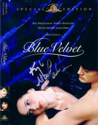 Kyle MacLachlan autographed Blue Velvet DVD cover