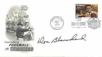 Doc Blanchard autographed Pop Warner First Day Cover