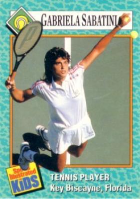 Gabriela Sabatini 1989 Sports Illustrated for Kids card