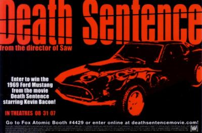 Death Sentence movie 2007 Comic-Con 4x6 promo card