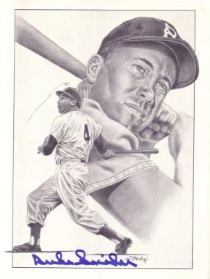Duke Snider autographed Los Angeles Dodgers 8x10 art print