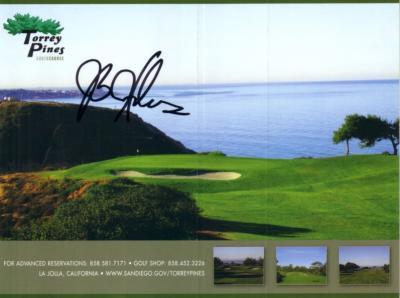 J.B. Holmes autographed Torrey Pines scorecard