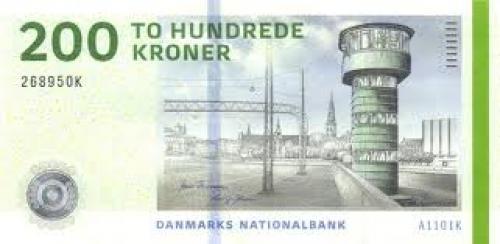 Banknotes: 200 Kroner; Denmark