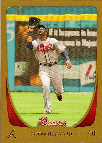 2011 Bowman Gold #21 ~ Jason Heyward